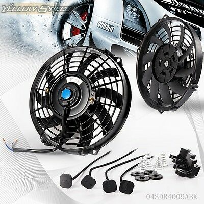 "9"" Universal Slim Pull Push Racing Electric Radiator Engine Cooling Fan"