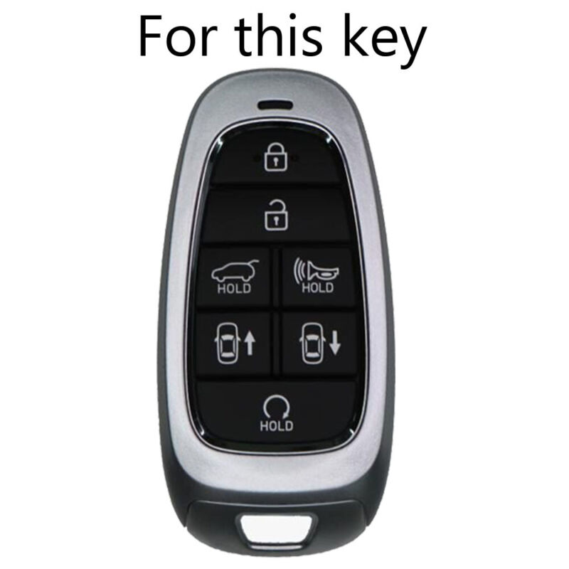 Pack of 2 KeyGuardz Keyless Entry Remote Car Key Fob Outer Shell Cover Soft Rubber Case for Hyundai Kia Elantra Sonata