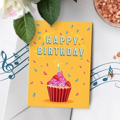 120s Birthday Greeting Card Recordable Musical Singing Recordable Chip 00005](Birthday Sings)