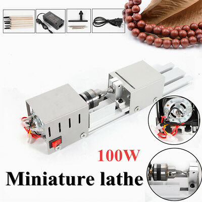 100w Mini Lathe Beads Polisher Machine For Woodworking Diy Rotary Tool 110v