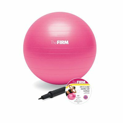 The Firm Slim and Sculpt Stability Ball with DVD, Pink, 55-C