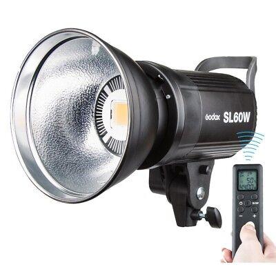 Godox SL-60W 5600K LED Lampe Dauerlicht Studioleuchte 95cm Bowens Softbox Set