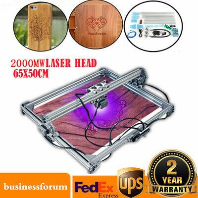 65x50cm Diy Desktop Laser Engraving Engraver Machine Cnc Printer 2000mw Usa Sale