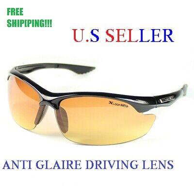 SPORT WRAP HD NIGHT DRIVING VISION SUNGLASSES HIGH DEFINITION (High Definition Sunglasses)