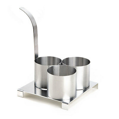 Stainless Steel Round Triple Mini 3 4 Funnel Cake Deep Fryer Frying Mold Ring