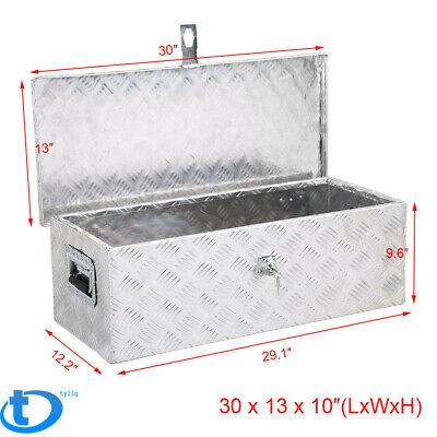 "30"" Aluminum Tool Box Pickup Truck Trailer Toolbox Underbody Storage w/Lock"