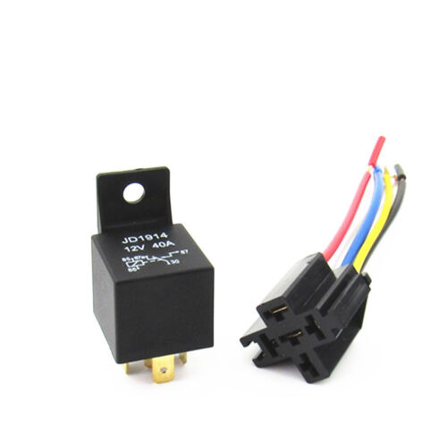 Details about NEW 12V 12Volt 40A Auto Automotive Relay Socket 40 Amp 5 Pin  Relay Wires XGDAB