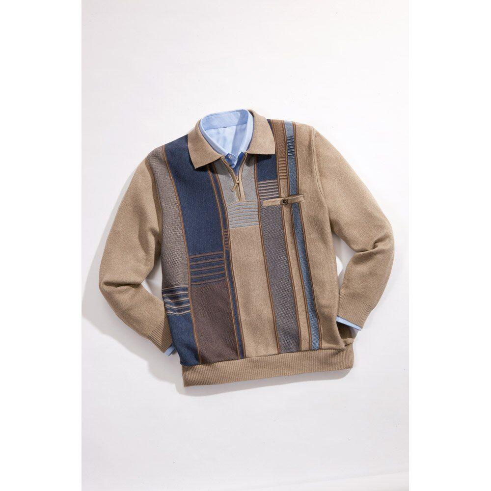 Herren Pullover Sweater Zipper Herrenpullover Herren Pulli Polo Reissverschluß