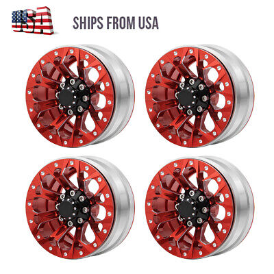 "1.9"" Metal Beadlock Wheels for 1/10 RC Axial SCX10 90046 TRX4 CC01 Crawler 26mm"