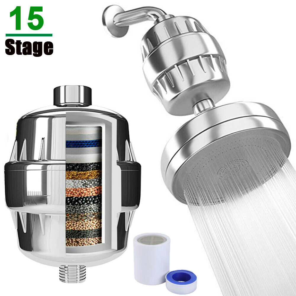 Luxury 15 Stage Shower Filter W Vitamin C Cartridge For Hard