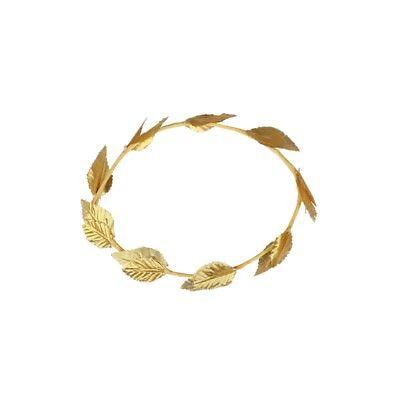 Roman Greek God Gold Leaf Laurel Wreath Headpiece Toga Fancy Dress New