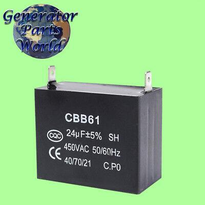 Coleman Powermate 24uf Capacitor For Shizuki Yf-ta Meritek Generator 0047806