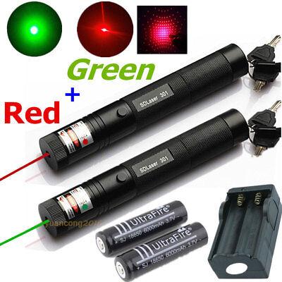 Red Green Laser Pen 301 5mw Teaching Pointer Pen18650 Batterycharger