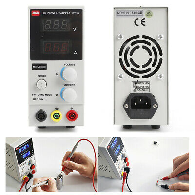 Dc Power Supply Variable Dual Digital Lcd Display 0-30v0-5a Switching Test