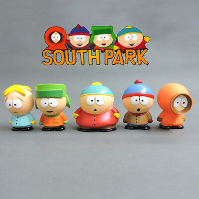 South Park Action Figures Doll Kids Gift Toy Stan Kyle Eric Kenny Leopard 5 PCS