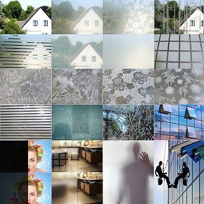(6,57€/m²) Milchglas Folie Fenster Sichtschutz selbstklebend Dekor Fensterfolie