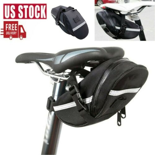 Bike Bicycle Saddle MTB Bag Under Seat Waterproof Storage Tail Pouch Cycling