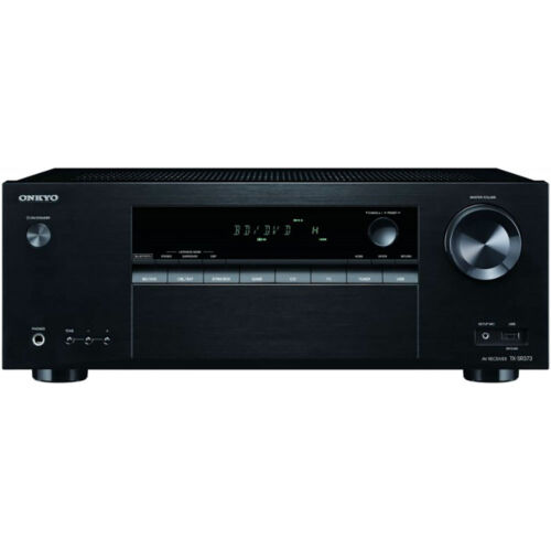 Onkyo TX 5.2-Ch. 4K Ultra HD and 3D Pass-Through HDR Compatible A/V Home Theater Receiver Black TX-SR373