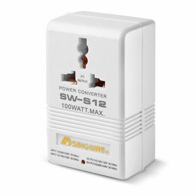 AC Power Converter, Universal 100w Bi-Directional 110v to 220v Voltage Switcher