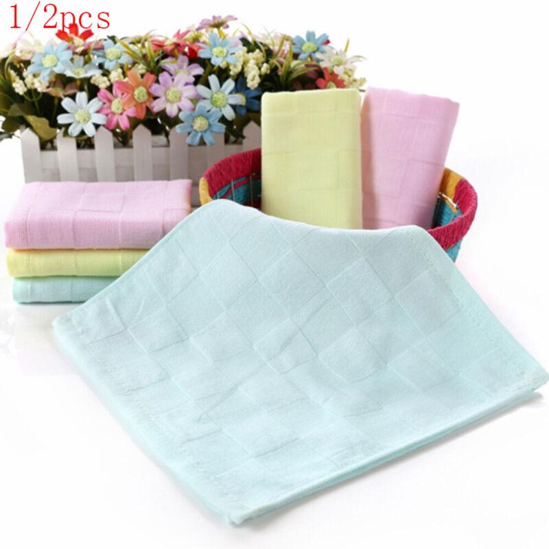 1 x Soft Cotton Baby Infant Newborn Bath Towel Washcloth Feeding Wipe Cloth