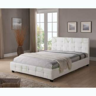BRAND NEW Modern Black and White PU leather BED FRAME - TOMMY