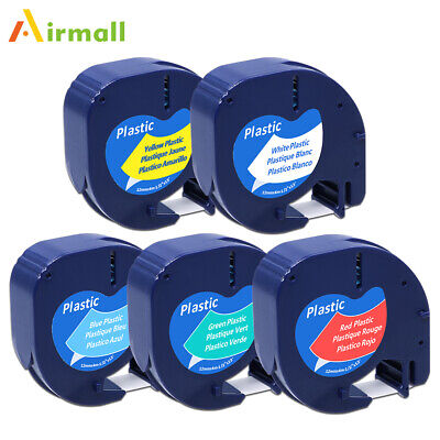 5pk Compatible Dymo Letratag Refill Plastic 12mm Label Tape 91331 91332 91333
