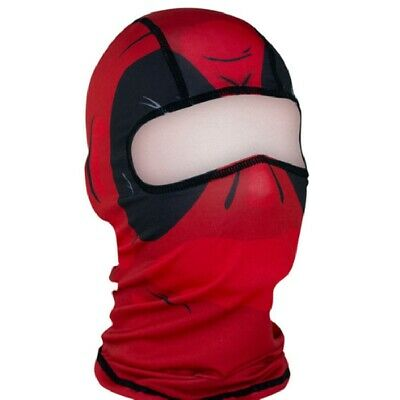 Red Dawn Black Sports Biker Balaclava Face Mask Costume Helmet Liner Super Hero (Red Dawn Costume)