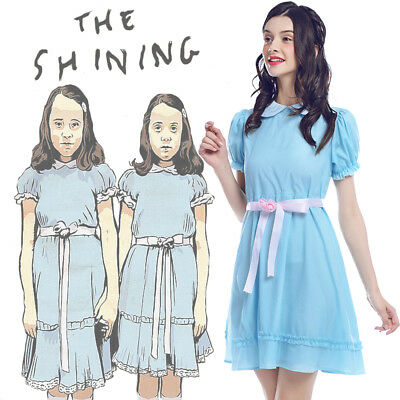Louis Kostüm (The Shining Grady Twins Lisa Louise Cosplay Kostüm Halloween Zwillinge BlauKleid)