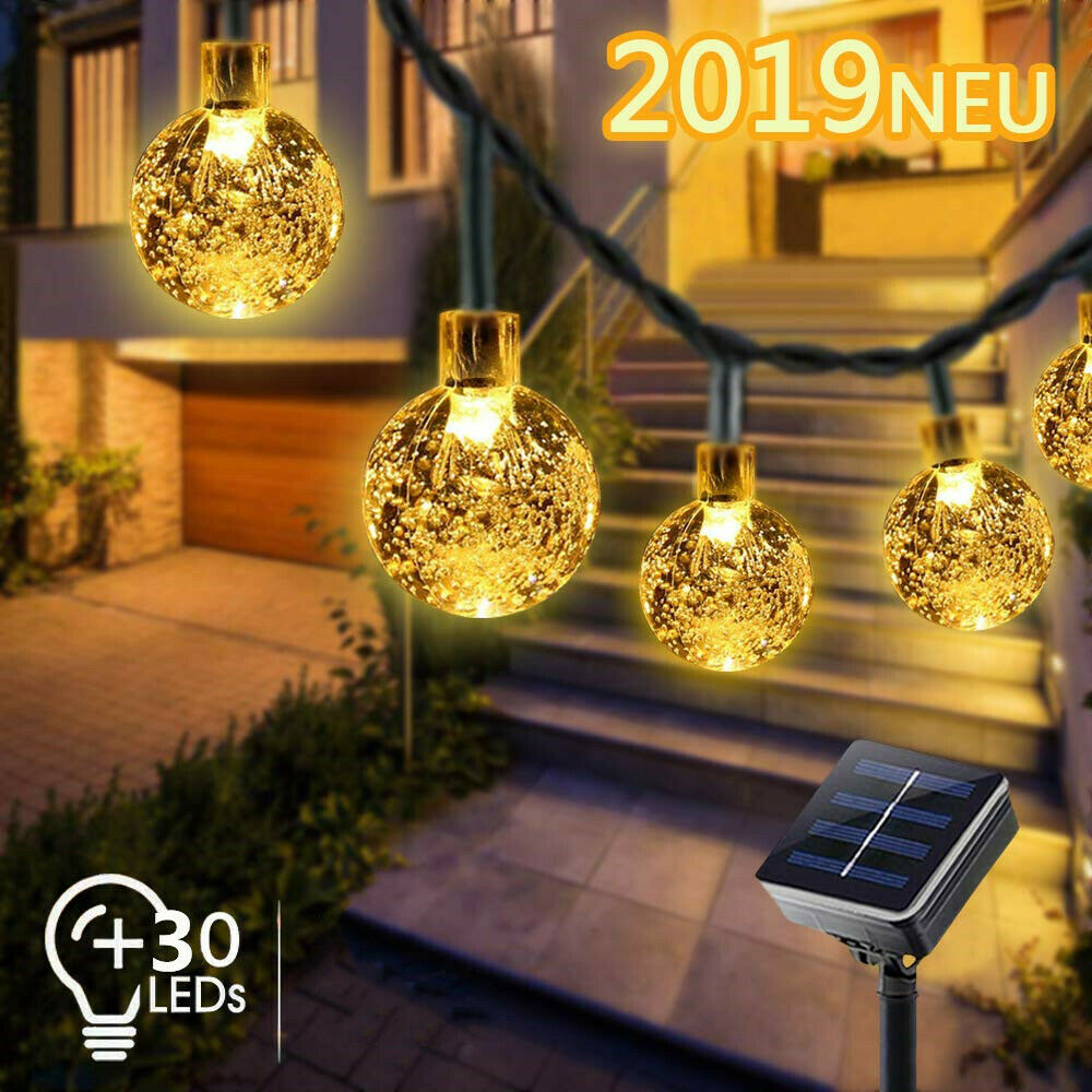 Erfahrung zur Außen Solarlichterkette: Warmweißes Licht