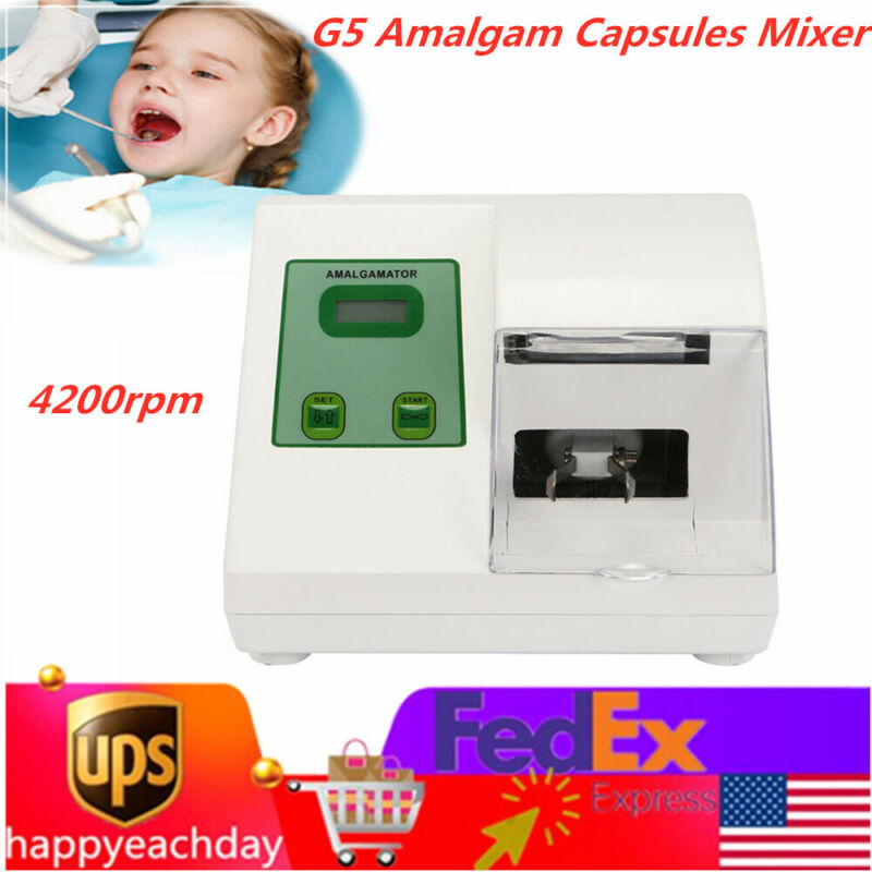 Dentist Digital Dental Lab 4200rpm Amalgamator G5 Amalgam Capsules Mixer Blendin