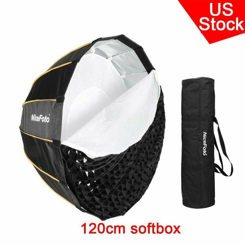 NiceFoto 120cm Quick Set-up Grid Deep Parabolic Softbox Folding Bowens Mount