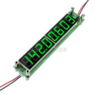 8-bit Digital Green Led Rf Signal Frequency Counter 0.1-60mhz 20mhz2.4ghz