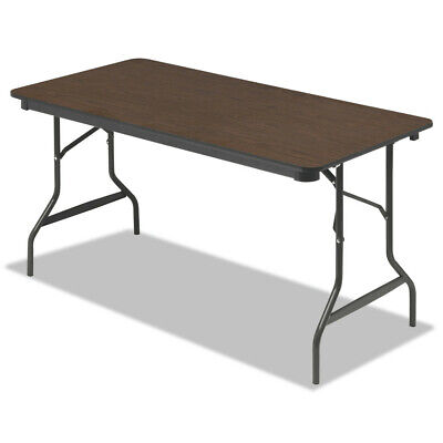Rectangular Walnut Folding Table - Iceberg 55314 Economy Wood Laminate Folding Table, Rectangular (Walnut) New