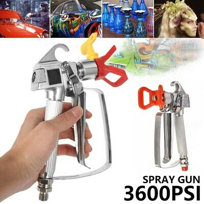 3600psi Airless Paint Spray Gun W 517 Tip Guard Swivel Joint For Wagner Sprayer
