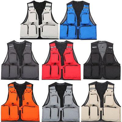 Outdoor Fishing Vest Multi-Pocket Hiking Hunting Jacket Photography Waistcoat