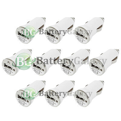 10 NEW USB Rapid Battery Car Charger Adapter Mini for Apple iPhone 5 5C 5G 5S