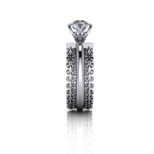 Round Cut Diamond Wedding Special Ring Solid White Gold 1.26 Ct