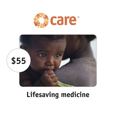 CARE $55 Lifesaving Medicine Symbolic Charitable Donation