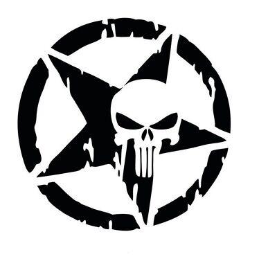 Totenkopfsticker Skull Tattoo Auto Tuning Sticker Schwarz (Tattoos Skulls)