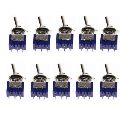 10pcs Mts-102 3 Pin Spdt Toggle Switch On-on 2 Position 14 Mounting Hole