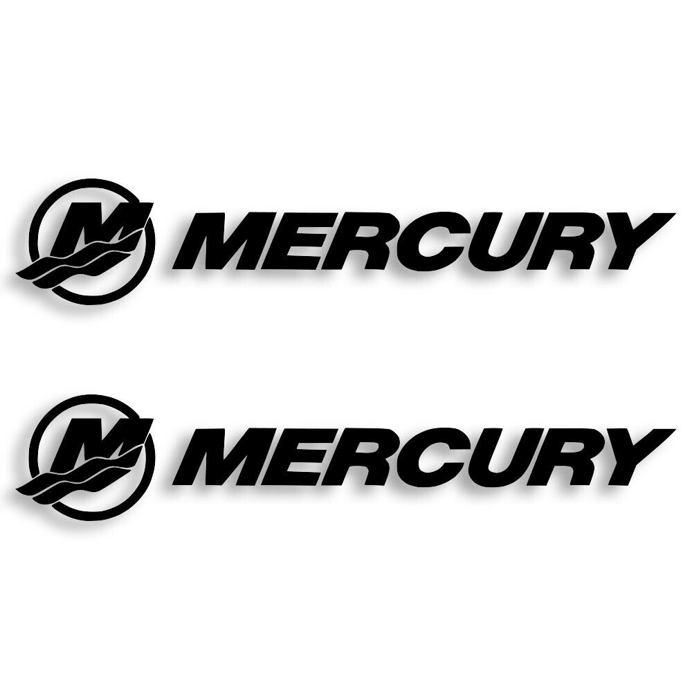 Home Decoration - Mercury Marine Vinyl Decal Sticker Set of 2 Free Shipping 4 Sizes