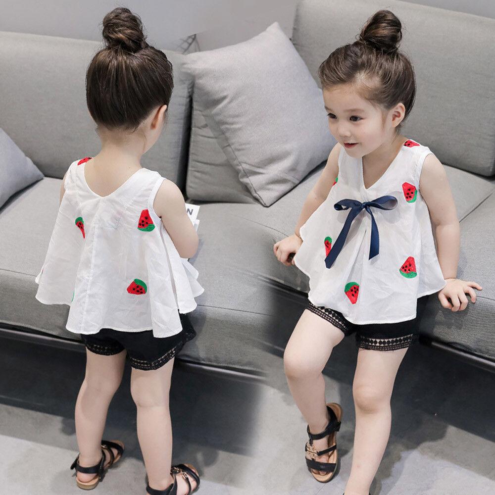 Toddler Kids Baby Girls T-shirt Tops+Short Pants Summer Outfits Clothes 2PCS Set