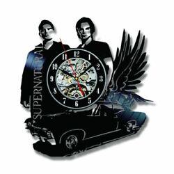 Vinyl Record Wall Clock Black Supernatural Theme Flying Car Shape Creative Art