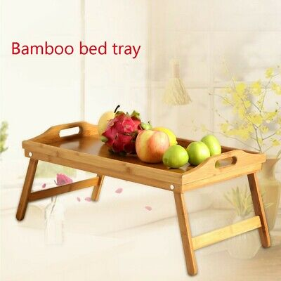 Bamboo Bed Tray Breakfast Laptop Desk Food Serving Hospital Table Bed Folding ](Breakfast Bed Tray)