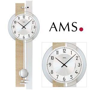 AMS-7441-Orologio-parete-quarzo-con-pendolo-sonoma-look-a-salotto