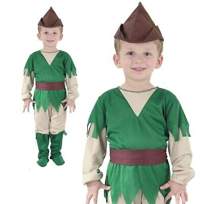 Kleinkind Robin Hood Peter Pan Kostüm Jungen Buch Woche Tag Outfit Alter - Robin Kostüm Kleinkind