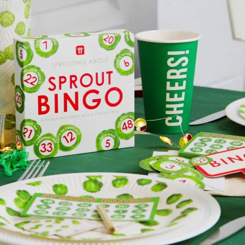 Christmas Sprout Themed Bingo Fun Christmas Game