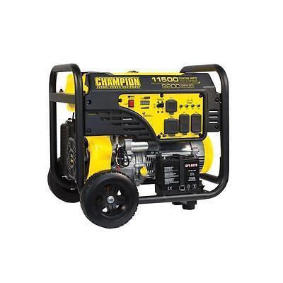 100110- 9200/11,500w Champion Electric Start Portable Gas Generator
