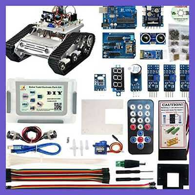 Robot Car Electronics Parts Kit W Cd Tutorial For Arduino Tank Platform Chassis