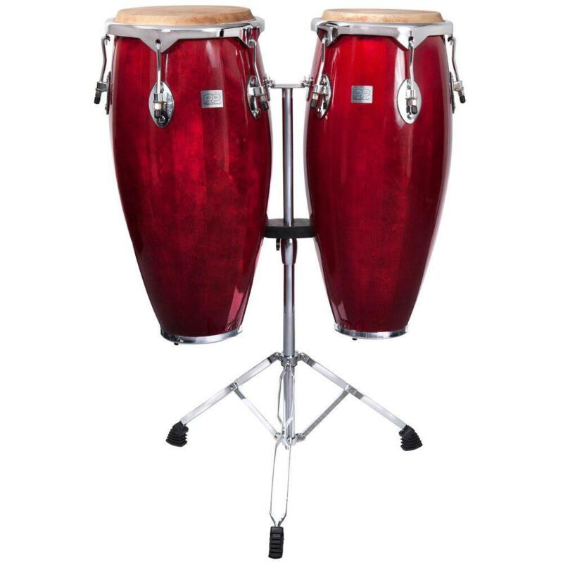 PP CONGA SET WITH STANDS- TRANS RED